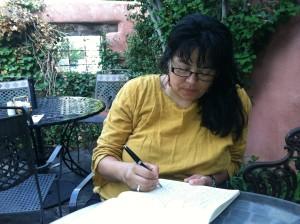 Writing at the El Rey Inn.